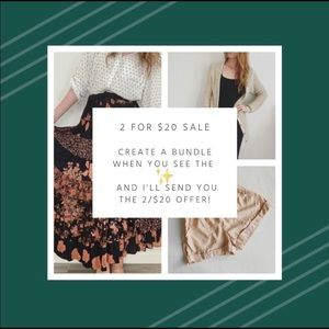 2 for $20 Sale!